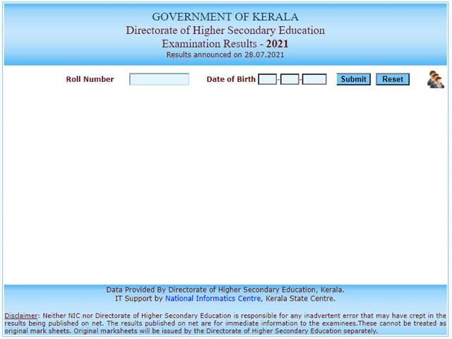 DSHE Kerala Plus Two Result 2021