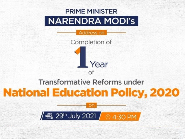 National Education Policy 2020: As NEP completes a year, PM Modi to address the nation and launch educational initiatives