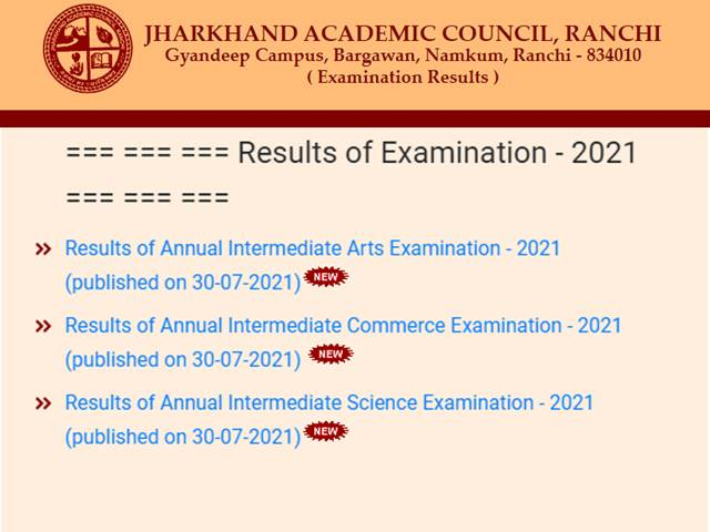 JAC 12th Result 2021 Declared