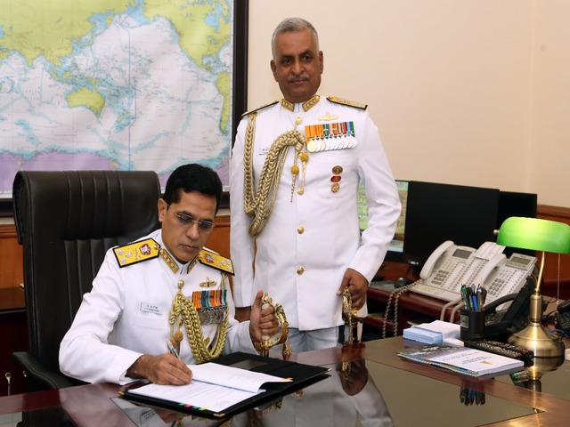 Vice Admiral SN Ghormade, Twitter/Indian Navy