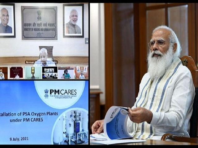 PM Modi chairs a high-level meeting on availability of oxygen