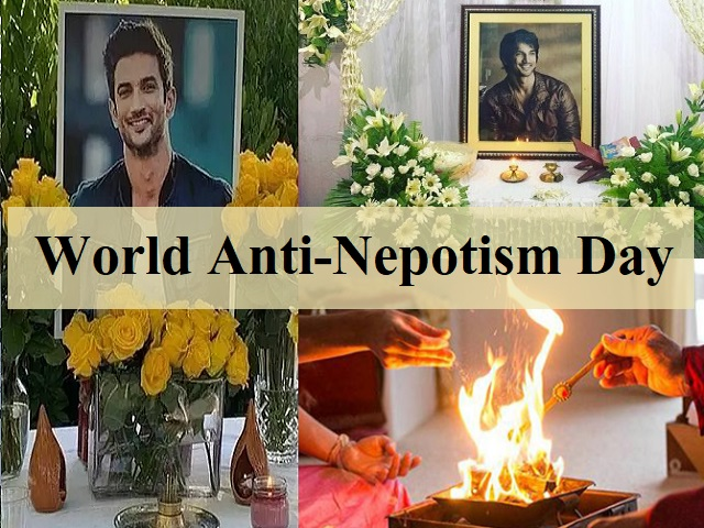 World Anti-Nepotism Day and its relation to Sushant Singh Rajput