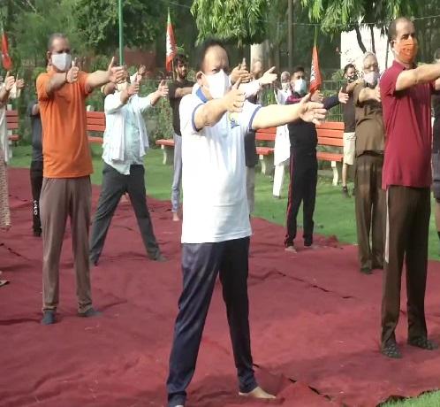 Harshvardhan Yoga Day 2021- ANI