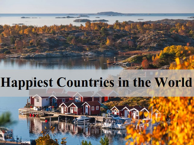 List of top 10 happiest countries in the world