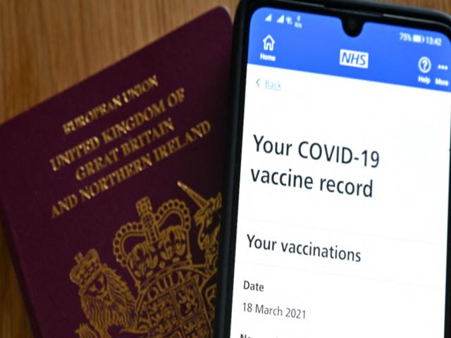 UK's NHS Vaccine Passport, Source: AFP