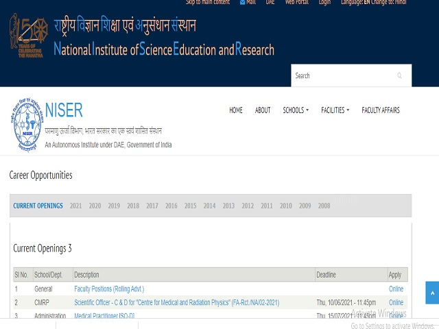 Apply Online for Scientific Officer 'D' Posts, Salary Rs. 67,700