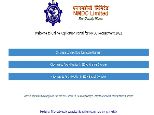 NMDC Recruitment 2021 for 304 Field Attendant, Maintenance Assistant, MCO and Other Posts, Apply Online Applications before 31 March