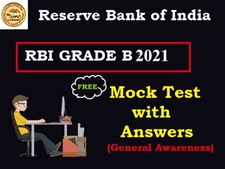 RBI Grade B Mock Test 2021