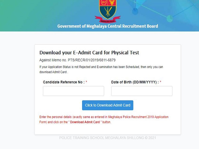 Download MLP Physical Test Call Letter for AB/UB and Follower @megpolice.gov.in