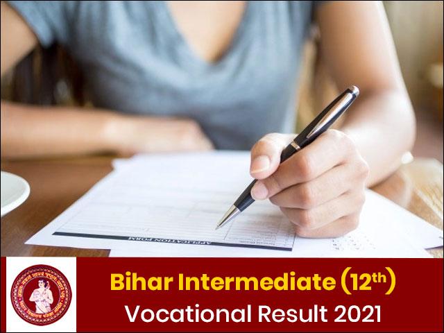 Bihar 12th Vocational Result 2021