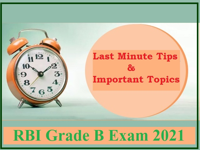 RBI Grade B Last-minute Tips 2021