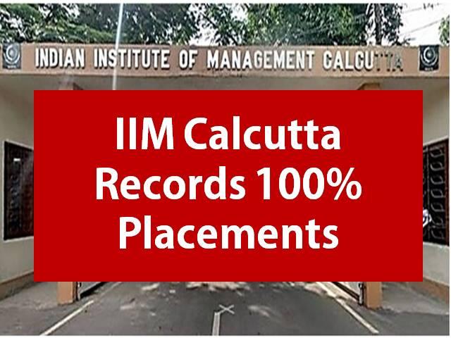 IIM Calcutta Placement 2021