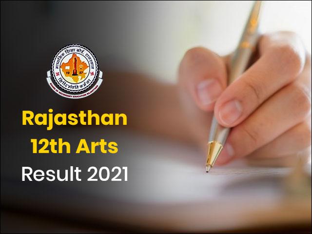Rajasthan 12th Arts Result 2021