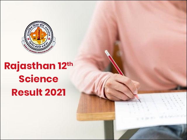 Rajasthan 12th Science Result 2021