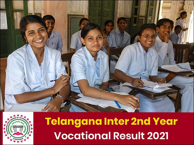 Telangana Inter 2nd Year Vocational Result 2021