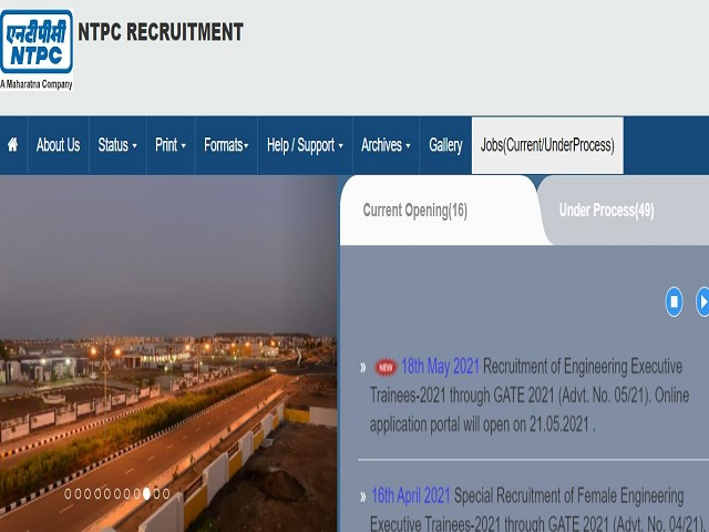 NTPC Recruitment through GATE 2021, Apply Online for 280 Executive Engineer Trainee Posts @ntpccareers.net