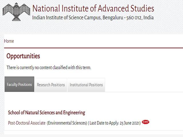 Apply Post Doctoral Associate (PDA) & Project Associate/Junior Research Fellow (JRF) Posts