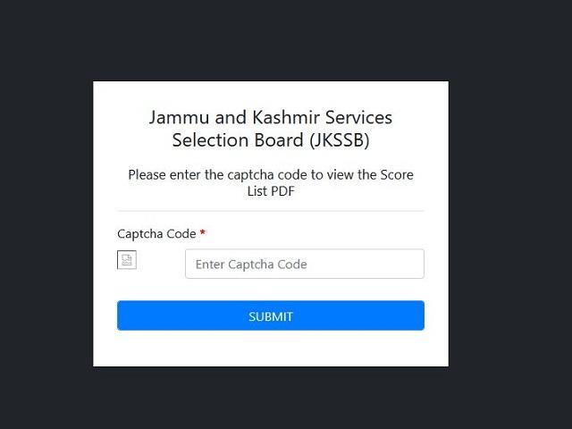 Download SSB JK 4th Class Merit List PDF Link Here