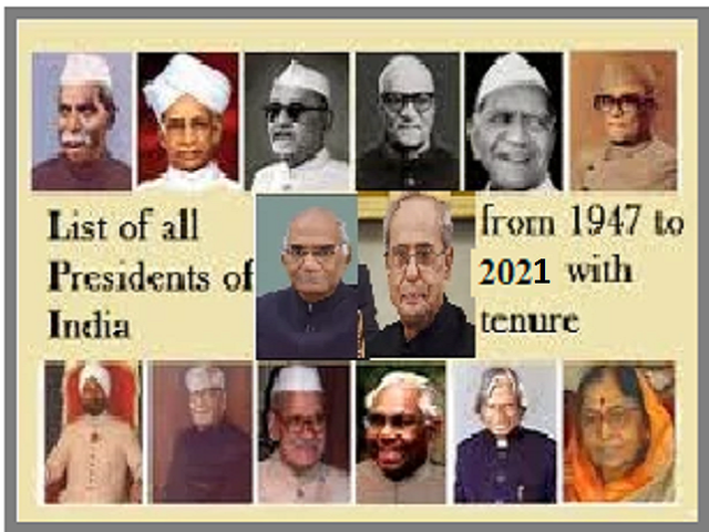 List of Presidents of India from 1947 to 2021