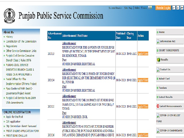 PPSC SO Recruitment 2021 Online Applications for 13 Section Officer Posts closing Soon @ppsc.gov.in