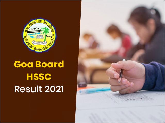 Goa Board HSSC Result 2021