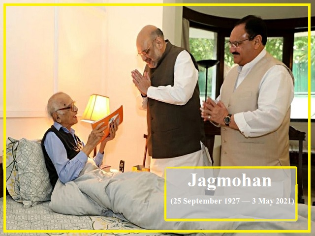 Jagmohan Malhotra (25 September 1927-3 May 2021)