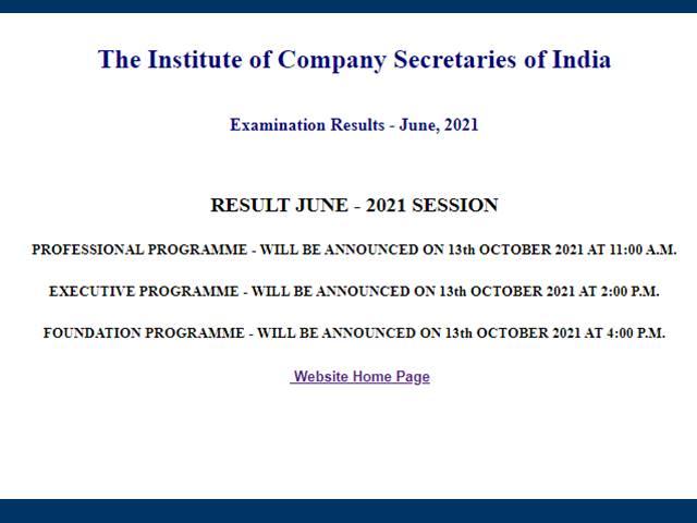 ICSI CS Result 2021 Date