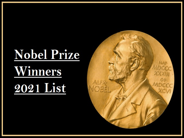 Nobel Prize 2021 winners: Check the complete list- Physics, Chemistry, Literature, Economic Sciences, Physiology or Medicine & Peace Prize