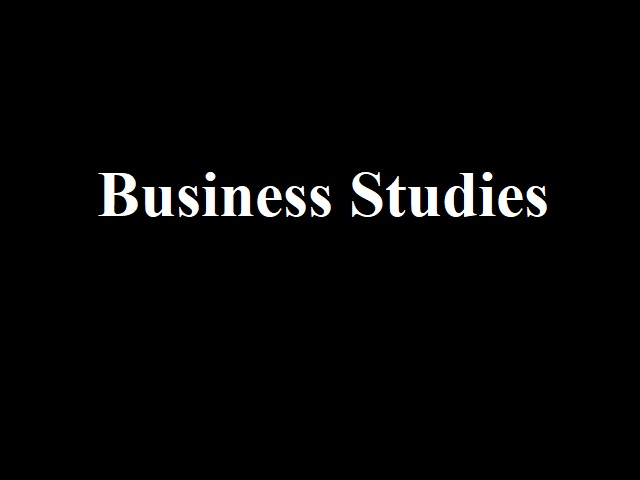 Sample Paper 2021-22 for CBSE Class 12 Business Studies