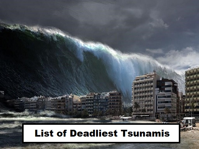 Tsunamis that hit the world