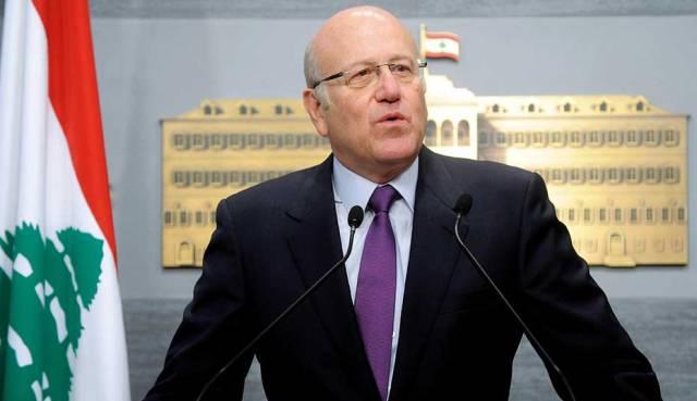 Lebanon PM Najib Mikati announces new Lebanese government amid economic crisis