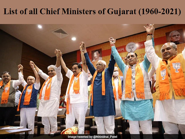 List of all Chief Ministers of Gujarat (1960-2021)