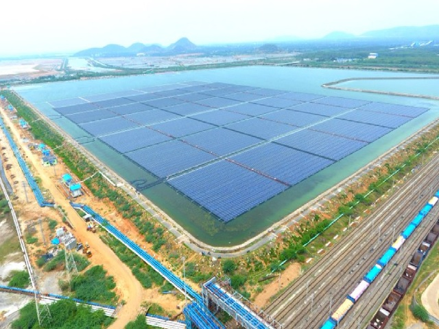 India's largest floating solar plant