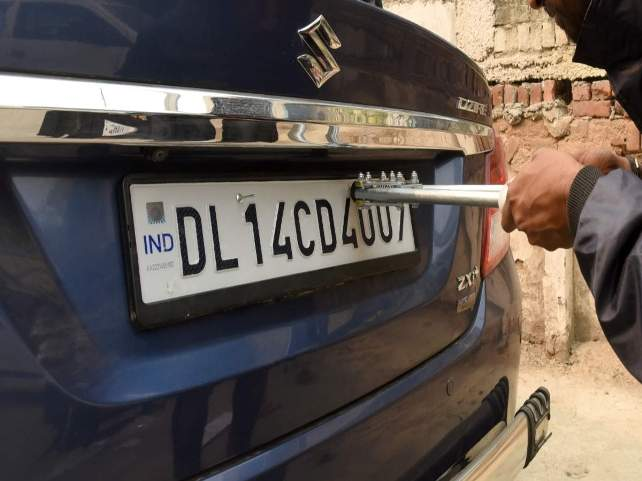 BH number plates