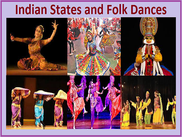 Lists of States and Folk Dances of India