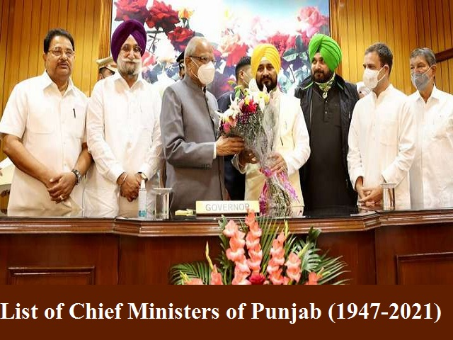 List of Chief Ministers of Punjab (1947-2021)