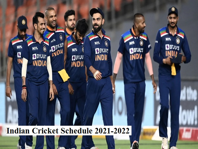 Indian Cricket Team Schedule 2021-2022: India to play 3 ODIs, 4 Tests & 14 T20Is against four teams