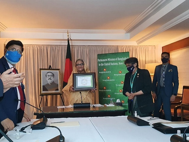 Bangladesh PM Sheikh Hasina honoured with SDG Progress award