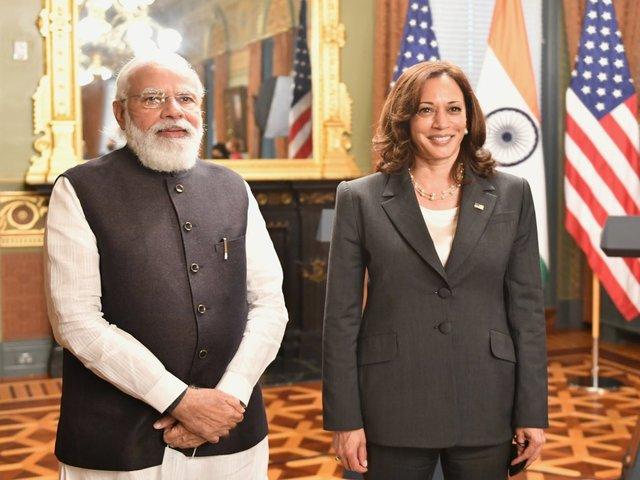 PM Modi, US VP Kamala Harris, Twitter/PM Narendra Modi