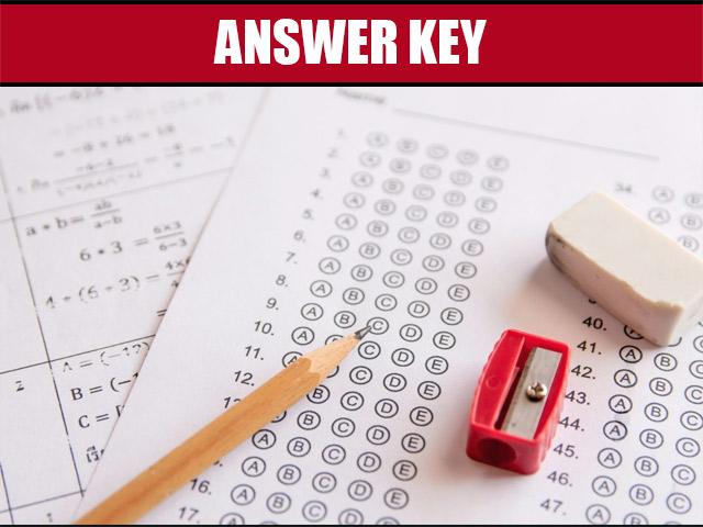 PSCB Answer Key 2021