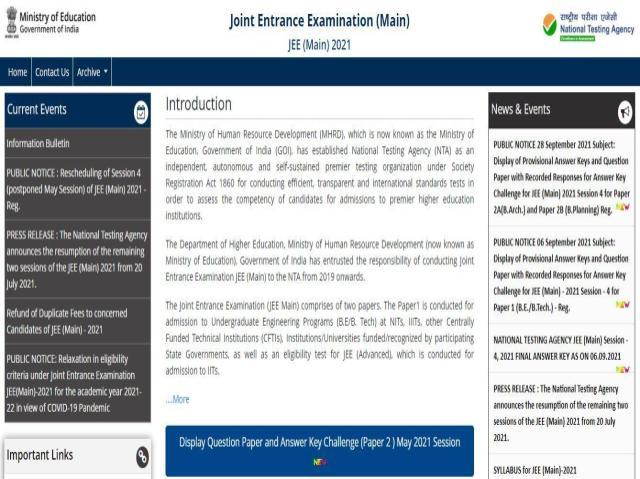 JEE Main 2021 Paper 2 Answer Key