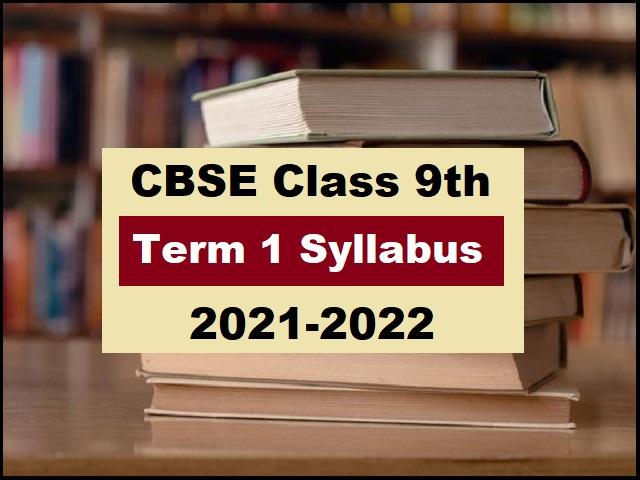 CBSE Class 9 Term 1 Syllabus 2021-2022