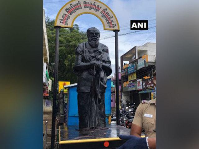 E V Ramasamy Periyar statue, Source: ANI