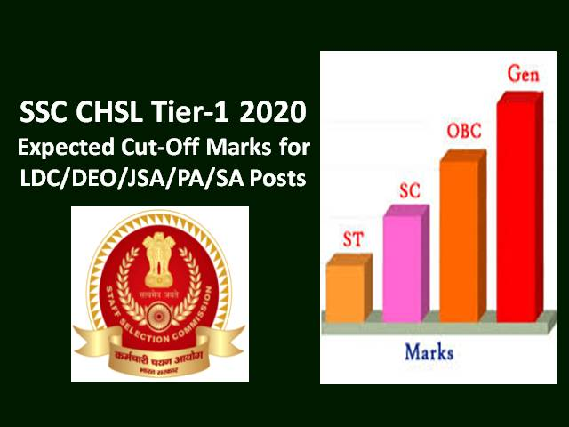 SSC CHSL Tier-1 2019-20 Result to be out soon @ssc.nic.in: Check SSC CHSL 2019 Expected Cutoff Marks for LDC/DEO/JSA/PA/SA Posts along with Previous Cutoff Marks