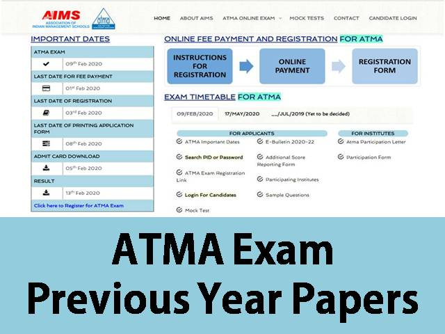 ATMA Previous Year Papers – Download for Free