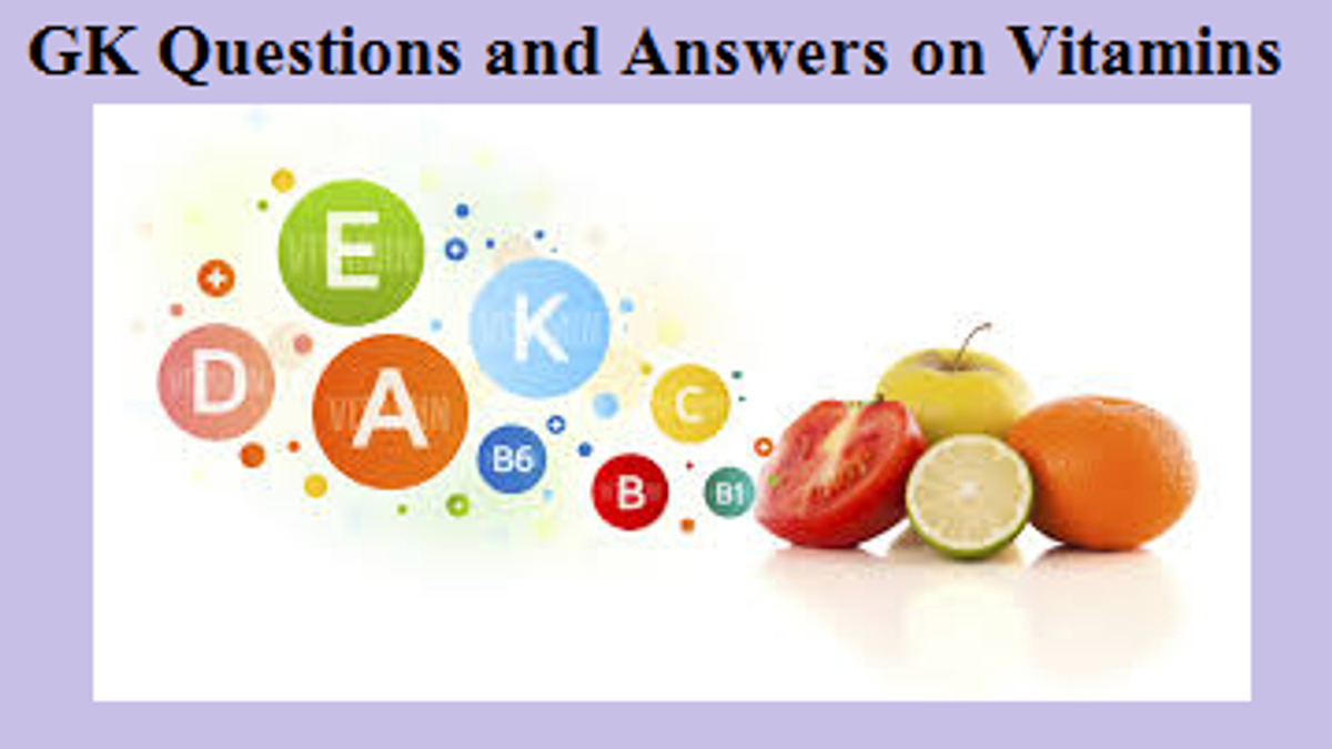 GK Questions and Answers on Vitamins