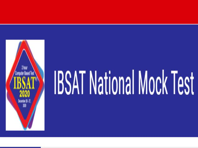 IBSAT Mock Test 2020