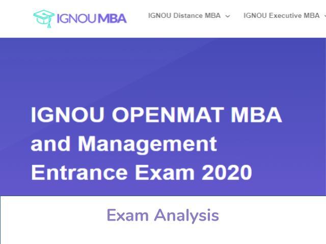 IGNOU OPENMAT 2020 Exam Analysis