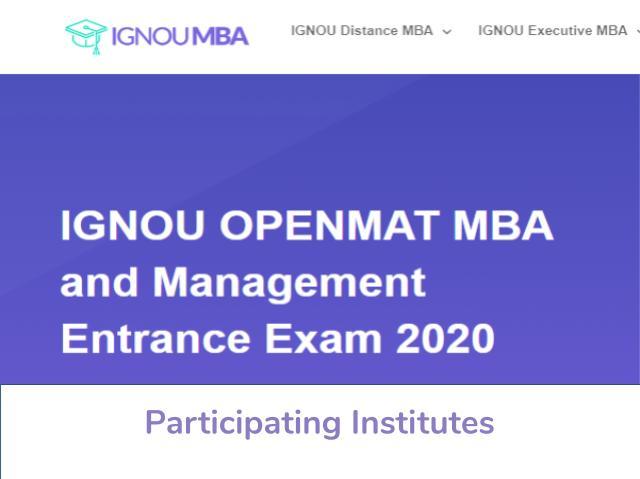 IGNOU OPENMAT 2020 Participating Institutes