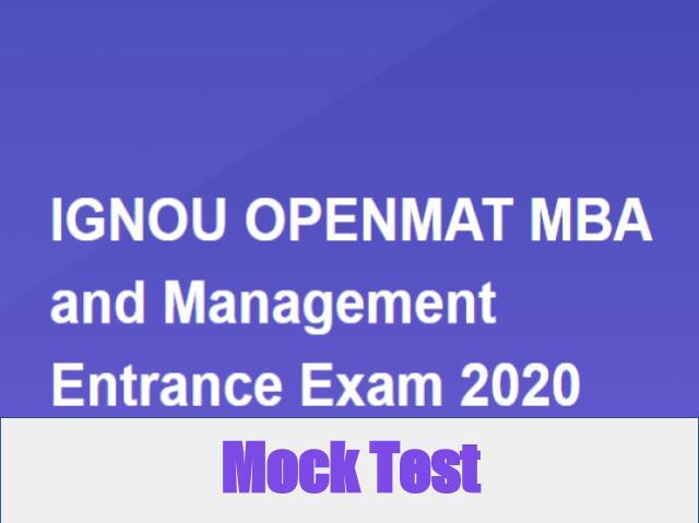 IGNOU OPENMAT Mock Test 2020